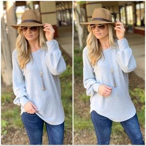 ✨RESTOCK✨Heather Gray super Soft long sleeve tunic